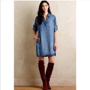 Anthropologie cloth & stone denim dress